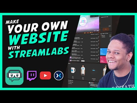 Make Your OWN Website with Streamlabs! (EASY Creator Sites)