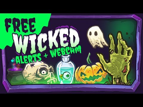 Wicked - Free Halloween Overlay and Alerts