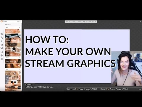 How to: MAKE STREAM GRAPHICS FOR FREE! (Info Panels & Overlay) | Kitty Plays