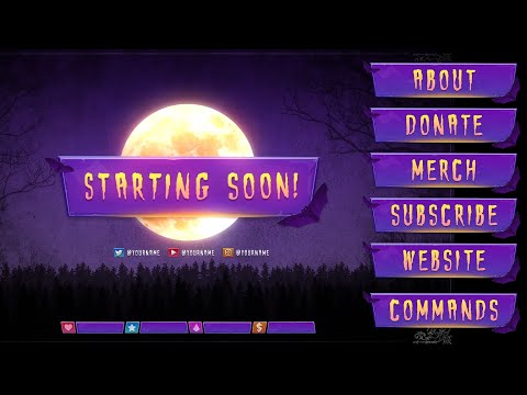 Halloween Twitch Animated Overlay Pack (2019)