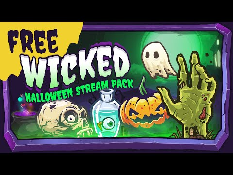 FREE Halloween Stream Package - Wicked (Updated) | Twitch Youtube & Facebook Gaming Overlay & Alerts