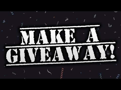 How To Make A GIVEAWAY On YouTube!