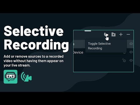 Selective Recording | Streamlabs OBS
