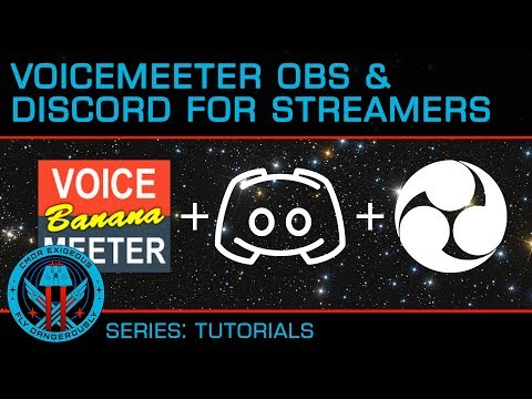 Advanced Audio Streaming Elite Dangerous and ALL Games with Voice Meeter, OBS and Discord (Guide)