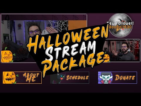 FREE Halloween Stream Package For Twitch and YouTube