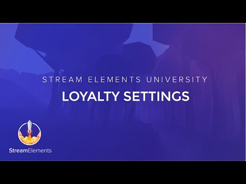 StreamElements Loyalty Settings