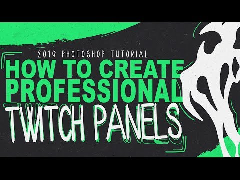 How to Create Clean Professional Twitch Panels in 2019 [FREE TEMPLATE DOWNLOAD]