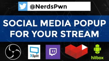 Social Media Popup for Twitch, Hitbox, or YouTube Stream