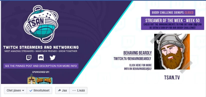 Twitch Streamers And Networking (TSAN)
