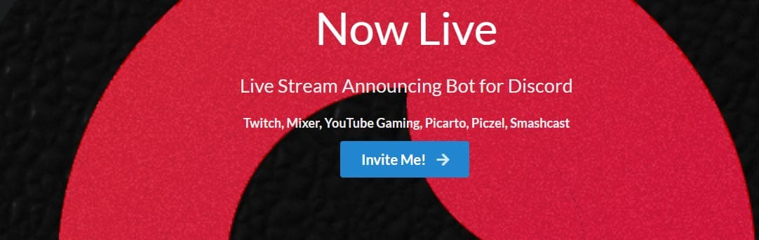 Now Live Bot for YouTube streamers