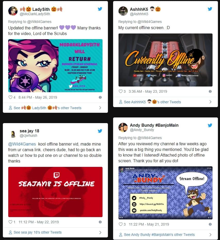 twitch offline banner inspiration