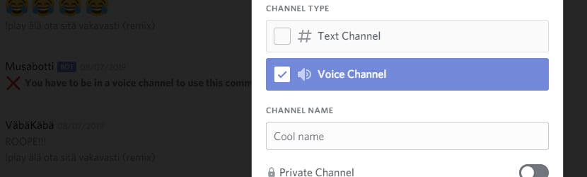 How to add voice channels in Discord
