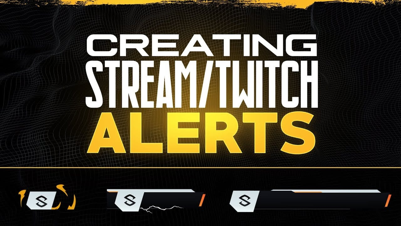 How to Create - Animated Stream Alerts / Twitch Alerts / PhotoShop / After Effect