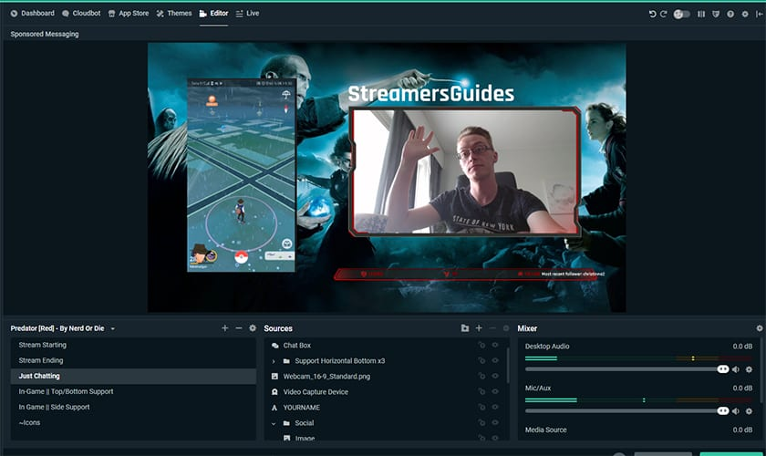 How to Stream - Harry Potter Wizards Unite to Twitch - Layouts & Facecam